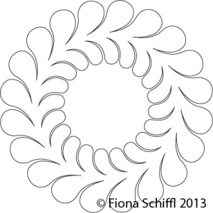 Feather wreath 20 barbs Fiona Schiffl
