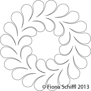 Feather wreath 20 to 12 barbs Fiona Schiffl