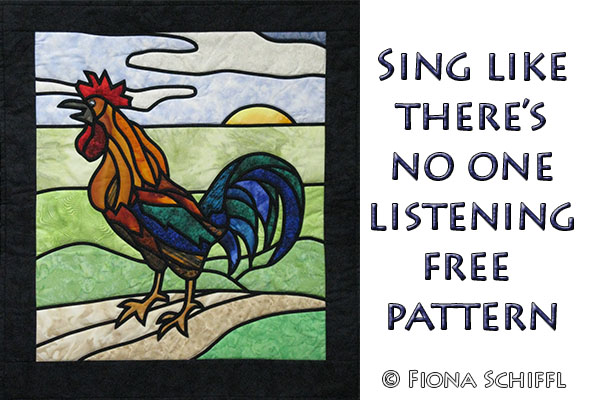 Free stained glass rooster quilt pattern   Fiona Schiffl : rooster quilt pattern - Adamdwight.com