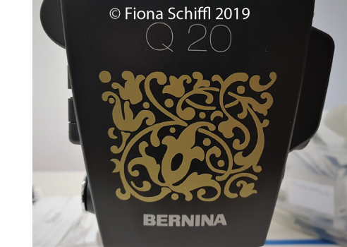 Bernina Q20 decal front view Fiona Schiffl