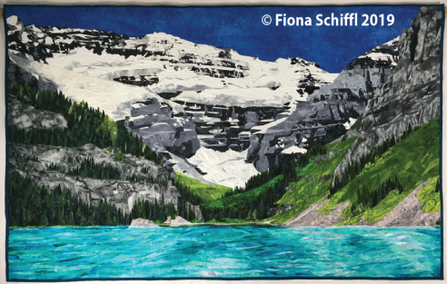 Lake Louise quilt Fiona Schiffl full quilt in reverse