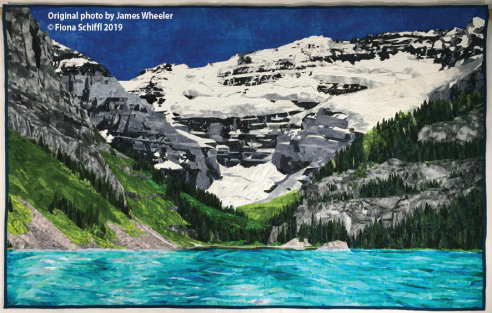 Lake Louise quilt Fiona Schiffl title