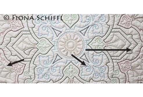 Bridging quilt design Design master plan Fiona Schiffl